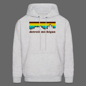 detroit michigan - Men's Hoodie