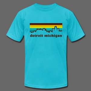 detroit michigan - Men's T-Shirt by American Apparel