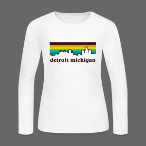 detroit michigan - Women's Long Sleeve Jersey T-Shirt