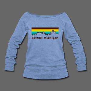 detroit michigan - Women's Wideneck Sweatshirt