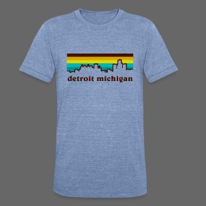 detroit michigan - Unisex Tri-Blend T-Shirt