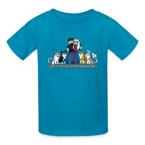 Pixel Snow Dogs | Kids T-Shirt - Kids' T-Shirt