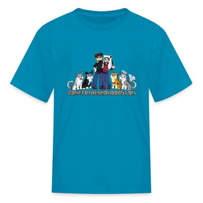 Pixel Snow Dogs   Kids T-Shirt