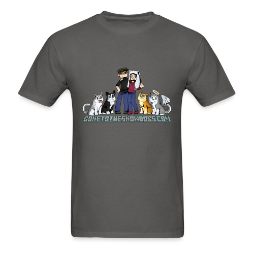 Pixel Snow Dogs | Men's T-Shirt - Men's T-Shirt