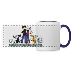 Pixel Snow Dogs | Panoramic Mug - Panoramic Mug