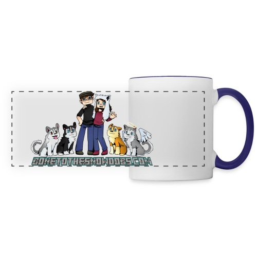 Pixel Snow Dogs | Panoramic Mug - Panoramic Mug