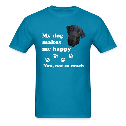 dog_happy - Men's T-Shirt
