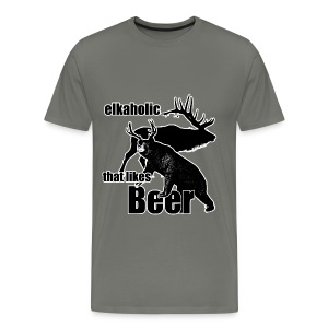 Elkaholic beer b3 - Men's Premium T-Shirt