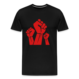 Fight The Power Red Fists T-Shirt - Men's Premium T-Shirt