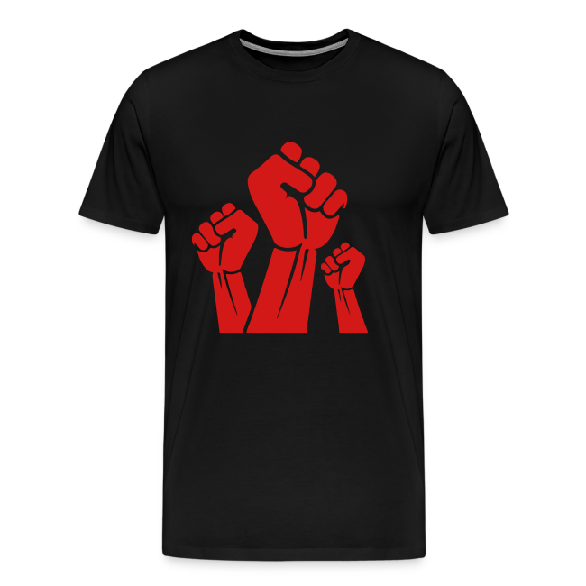 Fight The Power Red Fists T-Shirt