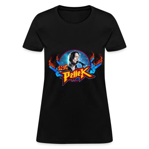 Girls cut T-shirt with PelleK logo and PelleK - Women's T-Shirt