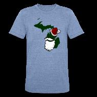 T-Shirts ~ Unisex Tri-Blend T-Shirt ~ Santa State