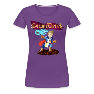 SuperDerek Womens Quest 64 Parody T-Shirt - Women's Premium T-Shirt