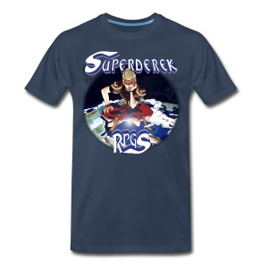 SuperDerek Mens Terranigma Parody T-Shirt - Men's Premium T-Shirt