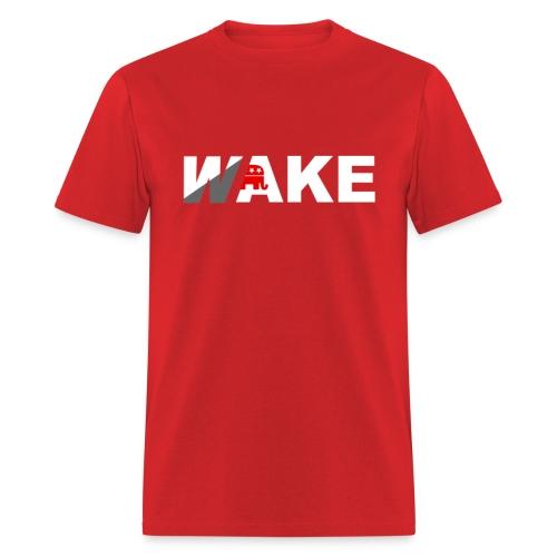WAKE T (Red) - Men's T-Shirt