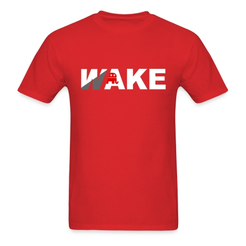 WAKE T (Red) - Men's T-Shirt