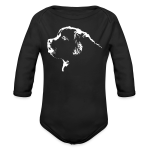 Newfoundland Dog Baby Bodysuit Newfoundland Puppy Gifts - Long Sleeve Baby Bodysuit