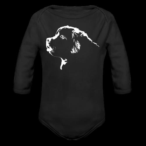 Newfoundland Dog Baby Bodysuit Puppy Dog Baby Tops - Organic Long Sleeve Baby Bodysuit