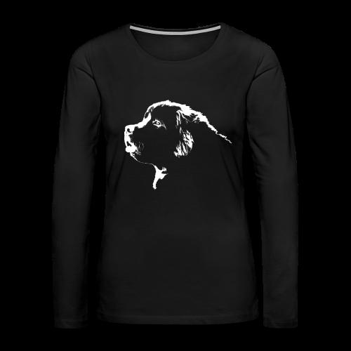 Newfoundland Dog Women's Shirt Newfoundland Puppy Shirts - Women's Premium Long Sleeve T-Shirt