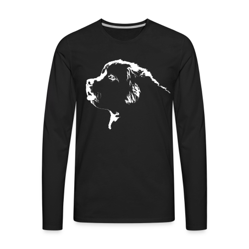 Newfoundland Dog Men's Shirts Newfoundland Puppy Shirts - Men's Premium Long Sleeve T-Shirt