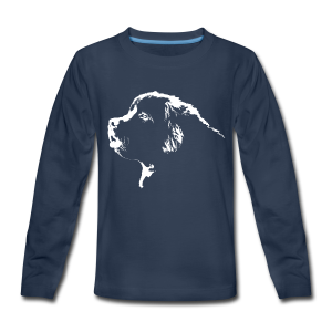 Newfoundland Dog Kid's Shirt Newfoundland Puppy Shirts - Kids' Premium Long Sleeve T-Shirt