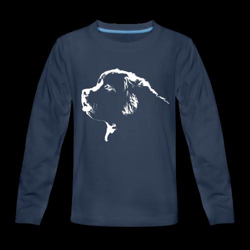 Newfoundland Dog Kid's Shirt Newfoundland Puppy Shirts - Kids' Premium Long Sleeve T-Shirt