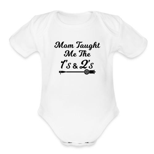 Mom Onsie 1's & 2's - Organic Short Sleeve Baby Bodysuit