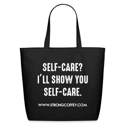 Self-Care Black Tote - Eco-Friendly Cotton Tote