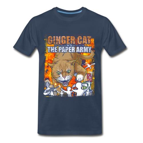 Ginger Cat Vs Paper Army - Men's Premium T-Shirt