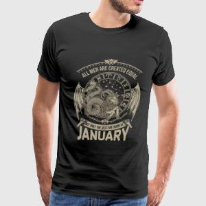January - The best men are born in january - Men's Premium T-Shirt