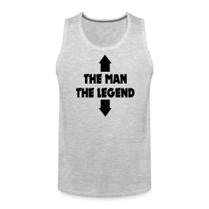 THE MAN THE LEGEND FUNNY ADULT JOKE Sportswear - Men's Premium Tank