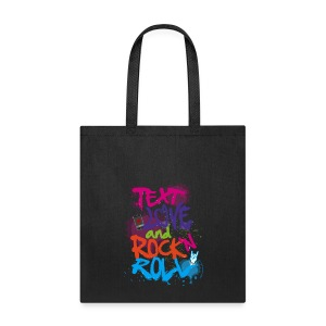 Text Love & Rock 'n Roll Tote - Tote Bag