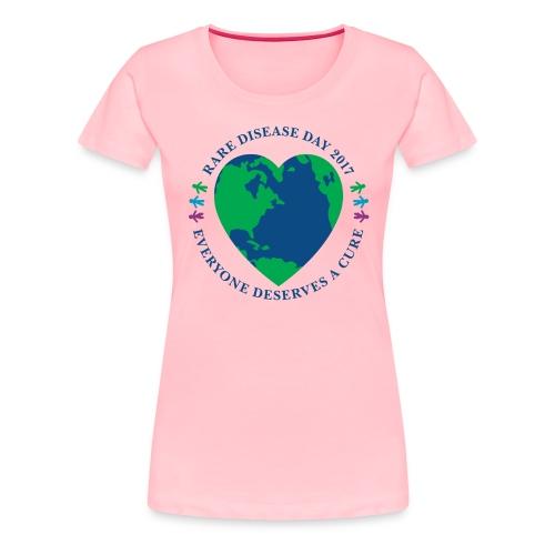 Rare Disease Day 2017 - women's premium t-shirt - Women's Premium T-Shirt