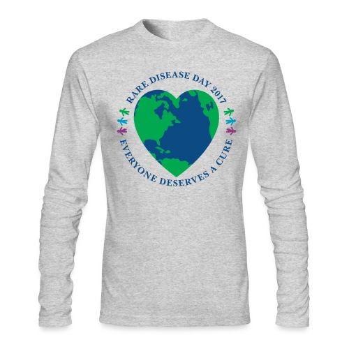 Rare Disease Day 2017 - men's long sleeve t-shirt by Next Level - Men's Long Sleeve T-Shirt by Next Level