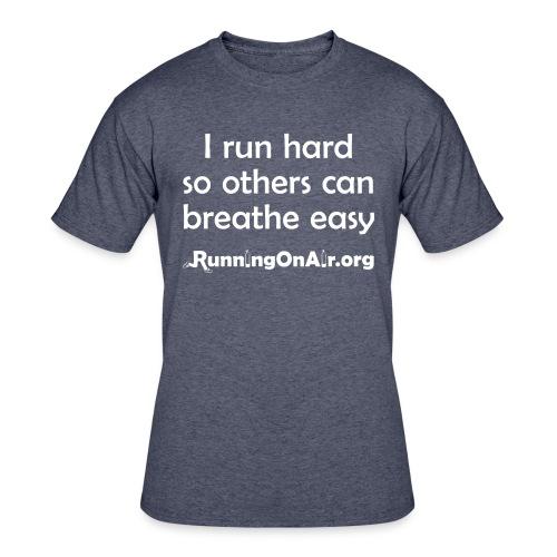 I Run Hard - men's 50/50 t-shirt - Men's 50/50 T-Shirt