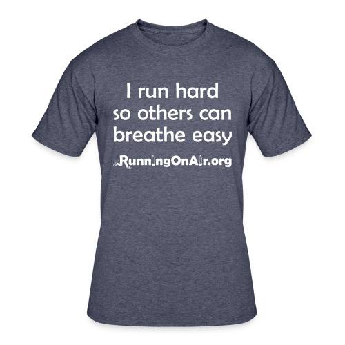 I Run Hard - men's 50/50 t-shirt - Men's 50/50 T-Shirt