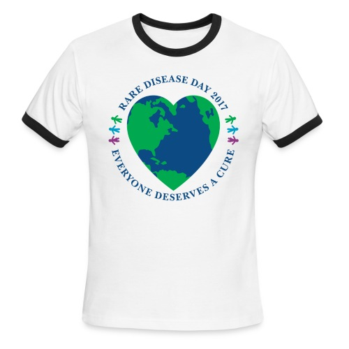 Rare Disease Day 2017 - men's ringer t-shirt - Men's Ringer T-Shirt