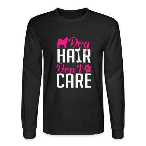 Alaskan Malamute Dog Hair Men's Long Sleeve Shirt - Men's Long Sleeve T-Shirt