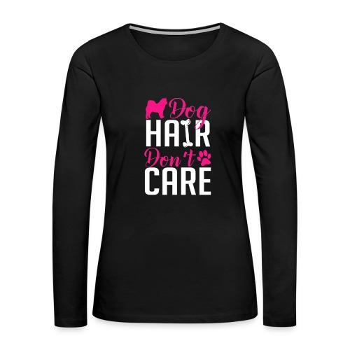 Alaskan Malamute Dog Hair Women's Long Sleeve Shirt - Women's Premium Long Sleeve T-Shirt