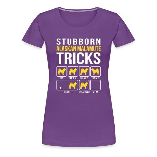 Alaskan Malamute Tricks Women's Premium Shirt - Women's Premium T-Shirt