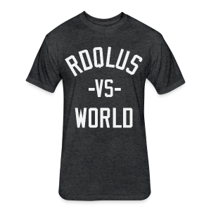 RDQLUS -vs- WORLD - Fitted Cotton/Poly T-Shirt by Next Level