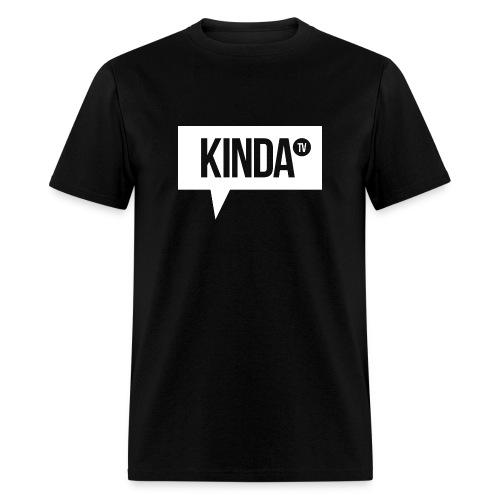 White KindaTV Logo Men's T-Shirt - Men's T-Shirt