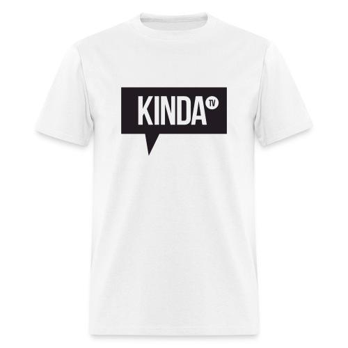 Black KindaTV Logo Men's T-Shirt - Men's T-Shirt