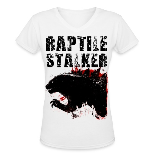Raptile Stalker - Women's V-Neck T-Shirt