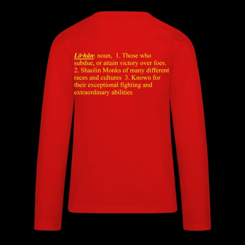 Lohan School Lion Dance   - Lohan Lion Dance Troupe - Kids' Premium Long Sleeve T-Shirt