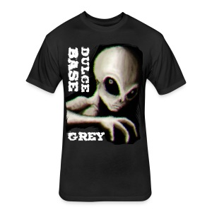 Dulce Base Grey - Fitted Cotton/Poly T-Shirt by Next Level