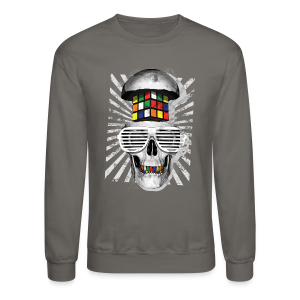 Rubik's Cube Skull With Sunglasses - Crewneck Sweatshirt