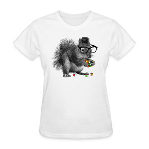 Rubik's Cube Squirrel - Women's T-Shirt