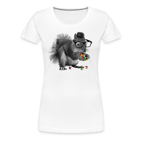 Rubik's Cube Squirrel - Women's Premium T-Shirt