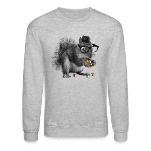 Rubik's Cube Squirrel - Crewneck Sweatshirt